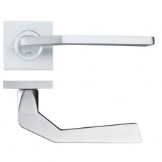 Auriga Door Handle on Square Rose Satin Chrome