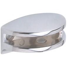 6mm Glass Shelf Bracket Polished Chrome - Curved