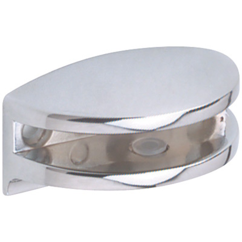 Glass Shelf Bracket | Polished Chrome | 6mm | Curved