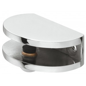 Polished Chrome Glass Shelf Bracket, 6-10mm glass