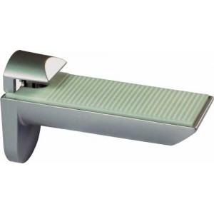 2 x Aluminium Finish Shelf Brackets - 25kg Capacity