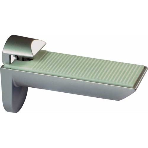 2 x Aluminium Finish Shelf Brackets - 25kg Capacity