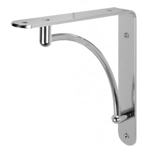 Polished Chrome Shelf Bracket - 40kg Load Capacity