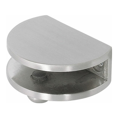 Stainless Steel Finish Glass Shelf Bracket - 6-10mm glass