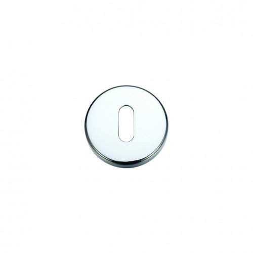 Escutcheon with Lock Profile Polished Chrome