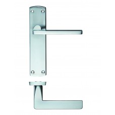 Door Handle Satin Chrome - Leon