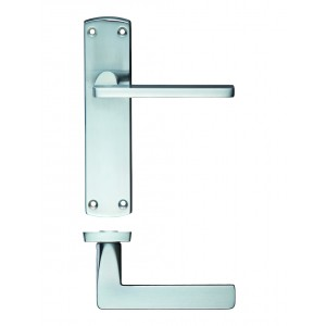Leon Satin Chrome Door Handles