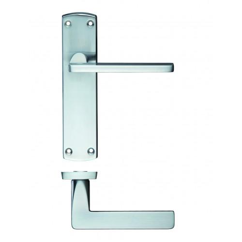 Leon Satin Chrome Door Handles