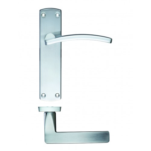 Toledo Door Handles Satin Chrome Zcz032sc Zoo Hardware