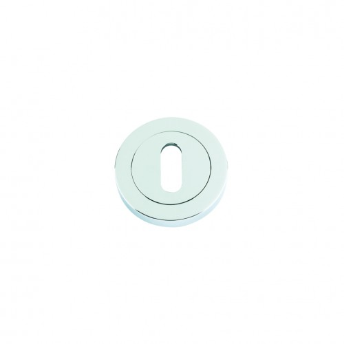 Escutcheon with Oval Lock Profile Polished Chrome