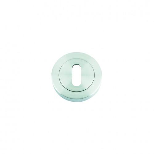 Escutcheon with Oval Lock Profile Satin Chrome