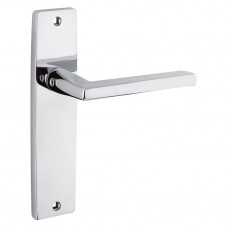 Door Handle on Backplate Polished Chrome - Venice