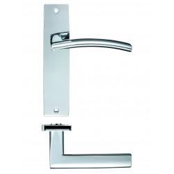 Door Handle on Backplate Polished Chrome - Amalfi