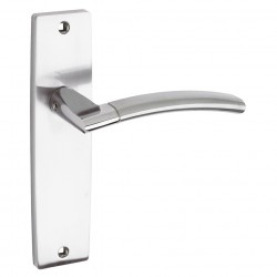 Amalfi Door Handle on Backplate Polished/Satin Chrome