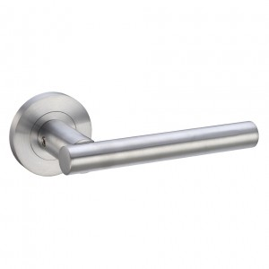 Lucca Door Handle on Rose Satin Chrome