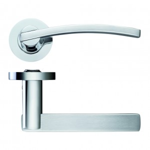 Adria Door Handle on Rose Polished/Satin Chrome