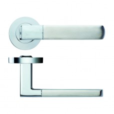 Apollo Door Handle on Rose Polished/Satin Chrome